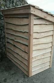 Log store, logs, hardwood, Softwood.