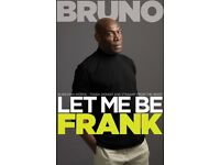 Frank Bruno signed Let me be Frank book direct from managment