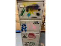 Cool artsy retro sprayed style 4 drawer Filing Cabinet