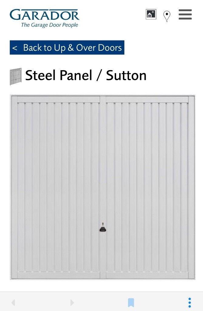 Garador steel panel garage door. Brand new. 2245x2190