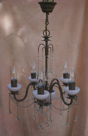 """Laura Ashley"" chandelier."