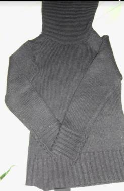 Damen pullover mit lange kragen Gr L