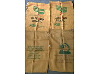 COFFEE SACKS x4 Very Large - Burlap - Jute - Hessian - Sewing, Upholstery, Upcycling, Arts, Crafts