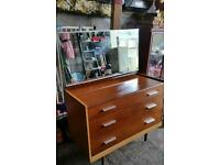 Stag 3 draw dressing table