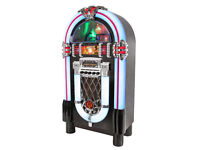 Itek Large Bluetooth Vintage Style Jukebox fm/am radio 1CD Player (New Condition)