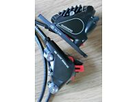 Shimano RS405 Hydraulic Calipers (flat mount) front and back - Brand New (slight scuffs)