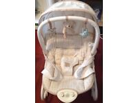 Mothercare bouncy chair with vibrate and music