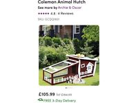 Rabbit/guinea pig hutch with run (only used for 2 weeks)