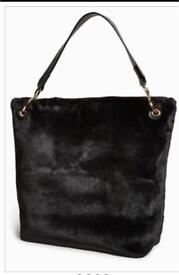 Next faux fur bag