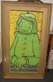 Very large Antique Wooden Victorian Picture Frame - original back 48'' x 28''