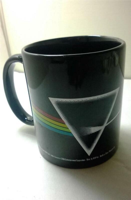 Pink Floyd Dark Side of the Moon Mug Cup Triangle Rainbow ICUP