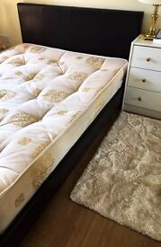 Small Double bed frame and mattress for sale