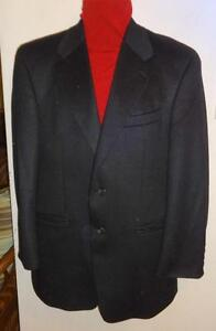 BRAND NEW / $850 RALPH LAUREN / MENS JACKET 38R / 100% CASHMERE BLACK / Blazer / SUPERFINE Wool / Made in Canada