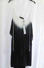 NWT Ladies RELIGION Black & White Ecstasy Dress - Size L