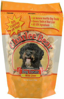 Charlee Bear Treats For Dogs Puppy Training Wholesome Liver 6 oz