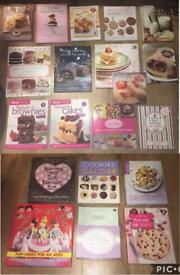 Bundle Joblot of Cake Baking Recipe CookBooks