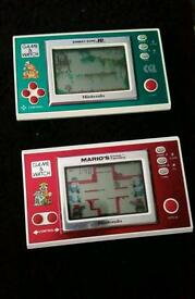 Nintendo game and watch vintage collectables