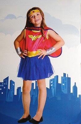 Girls WONDER WOMAN Halloween Costume Super hero Tutu Dress Purim Toddler 2T NEW - Super Hero Toddler Costumes