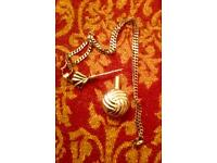 Solid silver perfume bottle necklace