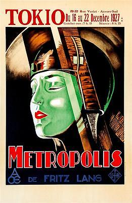Metropolis Fritz Lang 1927 vintage style movie poster 18 x 36 inches