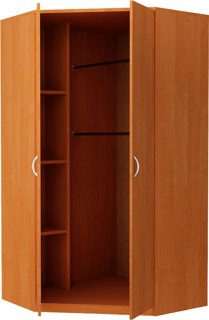 New Castle 2 Door Corner Wardrobe - Oak