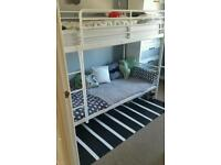White bed frame from Ikea 90x200cm