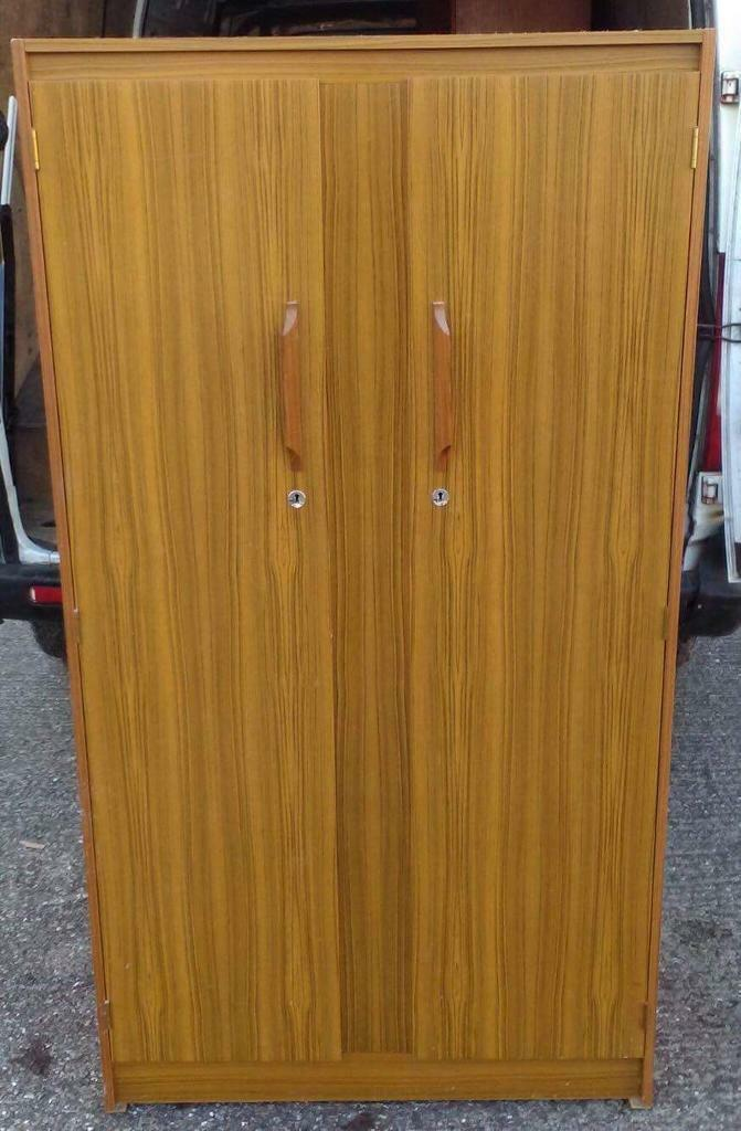 Teak effect wardrobe and dressing table free delivery