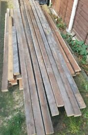 Job lot of imperial timber wall studing