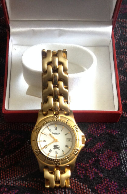 606fa5f92fa Burberry unisex watch 9000g date rose gold metal stainless steel back.