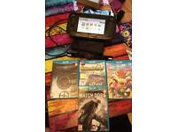 Wii U with 4 games complete with cables and charger