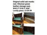 Oak monks rest bench