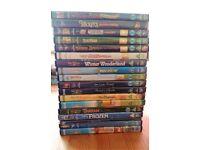 Bundle of 18 Disney DVD's - Mickey Mouse, Frozen, Cinderella, Tarzan, Beauty + the Beast, Robin Hood