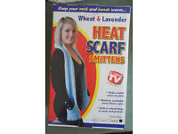 Wheat & Lavender Heat Scarf Smittens - boxed and never used