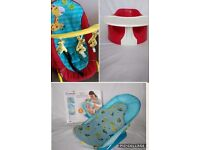 Bumbo and Play Tray, Hauck Giraffe Bouncer, Baby Bath Seat