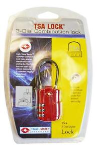 TSA RED WIRED 3 DIGIT DIAL COMBINATION TRAVEL LUGGAGE SUITCASE CODE LOCK