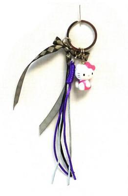Hello Kitty Schlüsselanhänger Schlüssel Schlüsselbund schwarz pink lila Katze Ca