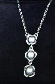 Stunning pandora 3 wishes necklace , 100% genuine
