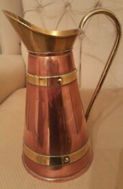 Beautiful Vintage Copper and Brass jug.
