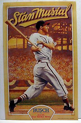 Cardinals Baseball Stan The Man Musial Busch Beer Sign - Stan The Man