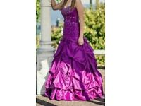 Mori lee purple prom dress gown size 10