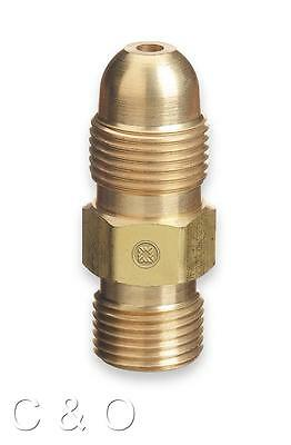 Western 51 Acetylene Adaptor Cga-300 To Cga-510 Commercial To Pol Regulator