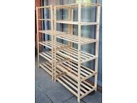 Two separate shelving units. Good condition. £17 each. Can sell separately