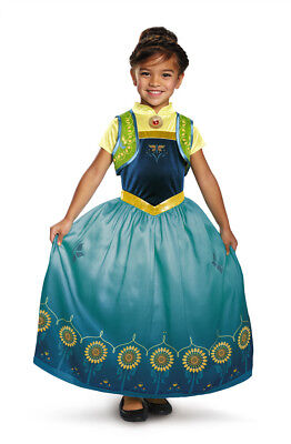 Mädchen die Eiskönigin Fever Deluxe Anna Disney Film Kostüm Lizensiert