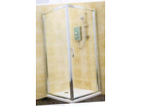 COOKE & LEWIS DELUVIO PIVOT SHOWER ENCLOSURE AND TRAY