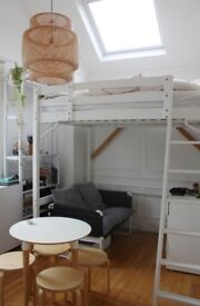 Double Loft bed with mattress
