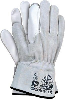 Schutzhandschuhe Schwerarbeiten Manschette ganz aus Leder Handschuhe Gr. 10