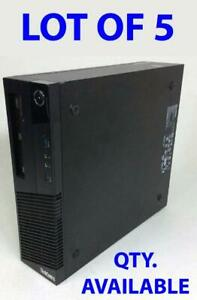 LOT OF 5 Lenovo ThinkCentre SFF Pro M83 Core i3-4130 3.4GHz/NO RAM/NO HDD Small Form Factor Business Desktop Computer PC