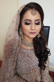 Asian Bridal Makeup Artist with extensive experience in Hair and Makeu