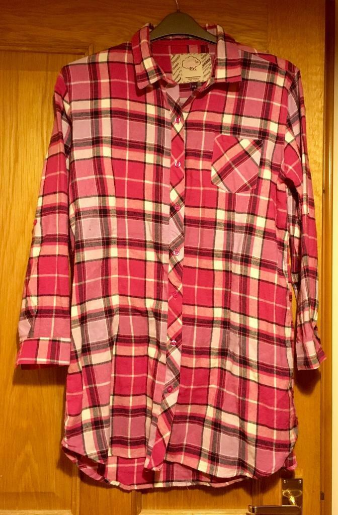 3958500b159d Pink check nightshirt size 12 14