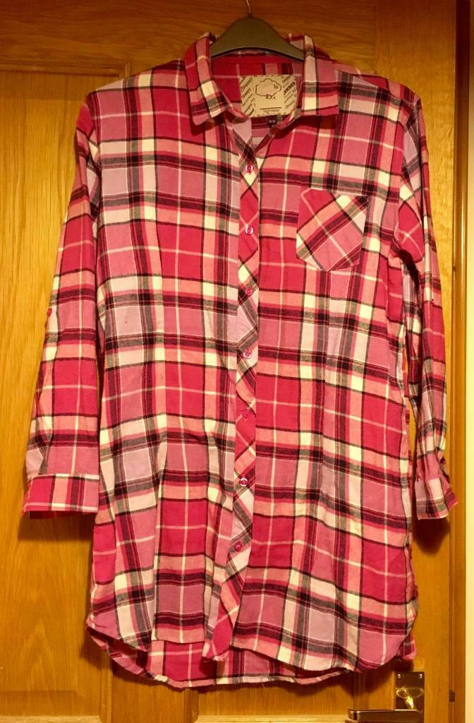3958500b159d Pink check nightshirt size 12 14